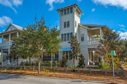 Single Family Home for sale at WaterColor Home with Carriage House and Pool on Corner Lot