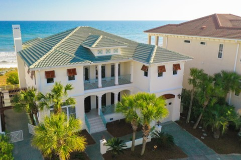 Single Family Home for sale at Elegant Gulf Front Retreat with Elevator and Inside Surround Sound