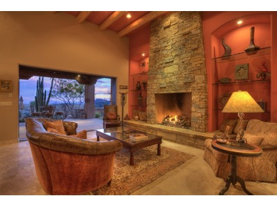 Casa para uma família for sales at Luxurious Santa Fe Style Custom Home in Desert Mountain 41965 N 105th Street Scottsdale, Arizona 85262 Estados Unidos