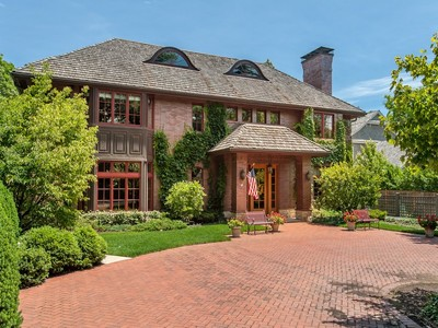 Single Family Home for sales at Spectacular Lakefront English Manor 691 Sheridan Road Winnetka, Illinois 60093 United States