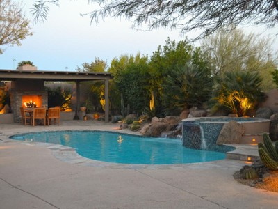 Single Family Home for sales at Entertainers Dream Home In The Gated Community Of Los Alisos In North Scottsdale 5753 E Night Glow Circle Scottsdale, Arizona 85266 United States