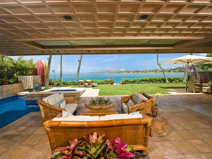 Single Family Home for sales at Oceanfront Architectural Gem 146 Wailupe Circle  Honolulu, Hawaii 96821 United States