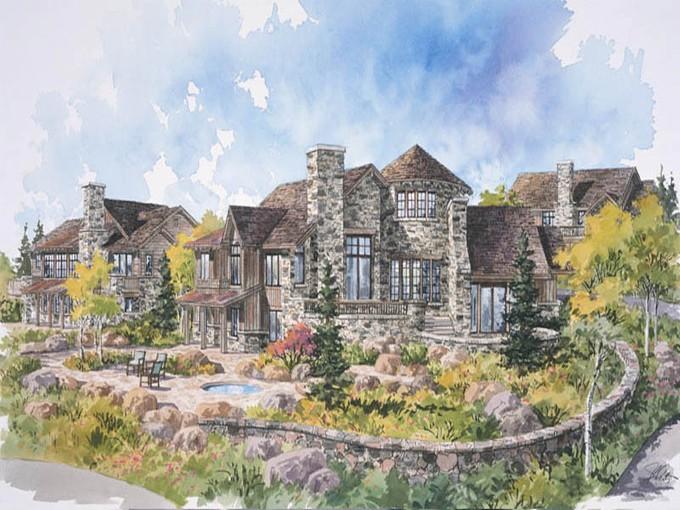 Casa para uma família for sales at Park City Cabin in Promontory, a Private Mountain & Golf Recreational Community 9272 Dye Cabins Dr Lot 23 Park City, Utah 84098 Estados Unidos