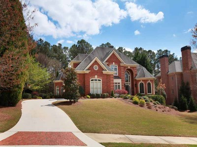 Single Family Home for sales at Exquisite Brick Home in Windward 1020 Lake Shore Overlook Alpharetta, Georgia 30005 United States