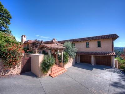 Single Family Home for  at Authentic Mediterranean Estate in Tiburon! 2 Via Elverano Tiburon, California 94920 United States