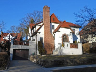 "Single Family Home for sales at ""UNIQUE STUCCO & BRICK TUDOR"" 56 Groton Street , Forest Hills Gardens Forest Hills, New York 11375 United States"
