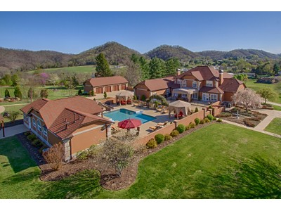 Single Family Home for sales at Refined Mediterranean Estate  Northeast, Tennessee 37620 United States