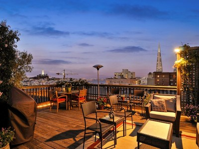 Single Family Home for sales at Classic Top Floor Condo with Roof-Deck Views 1049 Clay Street San Francisco, California 94108 United States