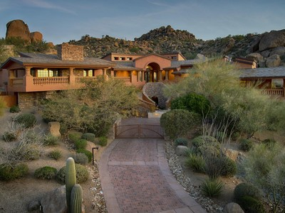 Maison unifamiliale for sales at Timeless Bob Bacon Architecture on one of the Highest Elevations in Estancia 10335 E Running Deer Trail Scottsdale, Arizona 85262 États-Unis
