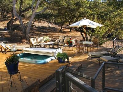 Частный односемейный дом for sales at 2.68 Acre Gated Baron Canyon Custom Home 255 Rocky Creek Lane San Luis Obispo, Калифорния 93401 Соединенные Штаты