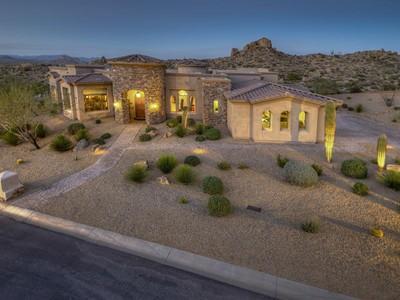 Частный односемейный дом for sales at Stunning Custom Home with 360 Views 12168 E Casitas Del Rio Drive Scottsdale, Аризона 85255 Соединенные Штаты