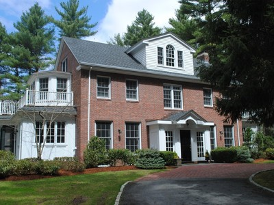 Single Family Home for sales at Impressive Brick Front Colonial Revival! 12 Seven Star Lane Concord, Massachusetts 01742 United States