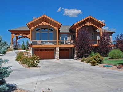 Single Family Home for sales at Exquisite Mountain Ranch Estates home, south-facing with big views 6130 Trailside Dr  Park City, Utah 84098 United States