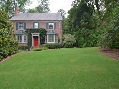 Einfamilienhaus for sales at Classic 1929 Druid Hills 1469 N Decatur Road Atlanta, Georgia 30306 Vereinigte Staaten