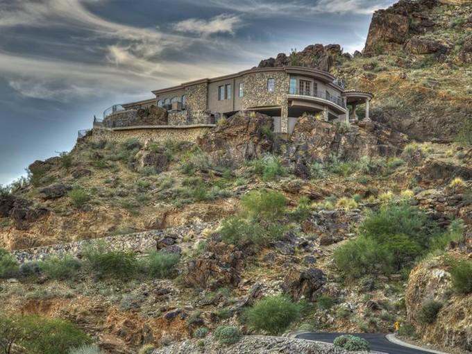 Nhà ở một gia đình for sales at Custom Trophy Masterpiece on Mummy Mountain 5665 E Cheney Drive   Paradise Valley, Arizona 85253 Hoa Kỳ