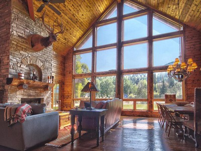 Single Family Home for sales at Beautiful Cabin Beaver Springs Ranch with Weber River Private Access 11 Ogden Rd Oakley, Utah 84055 United States