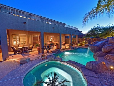 Einfamilienhaus for sales at Gated Quiet Neighborhood Overlooks The McDowell Golf Course & McDowell Mountains 10634 E Sheena Drive Scottsdale, Arizona 85255 Vereinigte Staaten