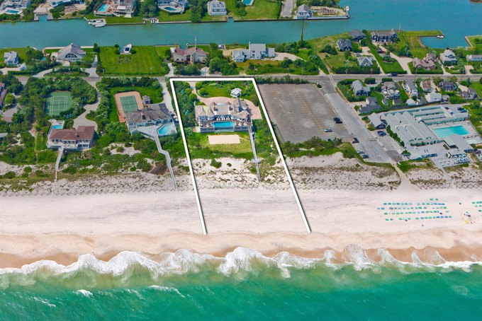 Einfamilienhaus for sales at Exceptional Oceanfront Residence 52 Dune Road Quogue, New York 11959 Vereinigte Staaten