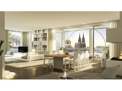 共管式独立产权公寓 for sales at The View - spectacular view over the Rhine River and Cologne Cathedral Kennedy-Ufer 11 Cologne, 北威州 50679 德国