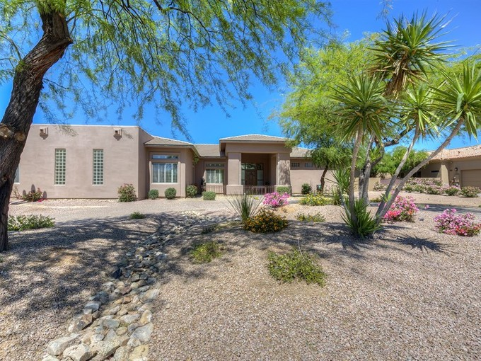 Single Family Home for sales at Soft Contemporary Custom Home With Fabulous Mountain Views 13050 E Turquoise Ave Scottsdale, Arizona 85259 United States