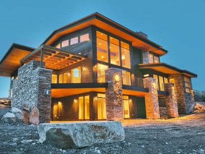 Einfamilienhaus for sales at Mountain Modern Home 7664 Fire Ring Glade 67 Park City, Utah 84098 Vereinigte Staaten