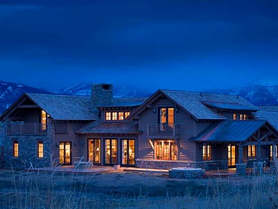 Single Family Home for sales at Beautiful, Custon Cabin Home 2690 W. Snowshoe Lane South Jackson Hole, Wyoming 83001 United States