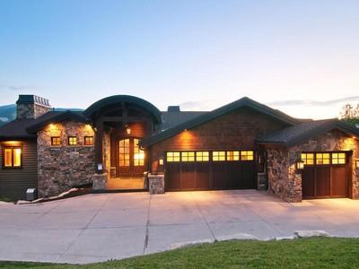 단독 가정 주택 for sales at Park City Luxury Defined Custom Built Dream Residence 1401 Mellow Mountain Rd  Park City, 유타 84060 미국