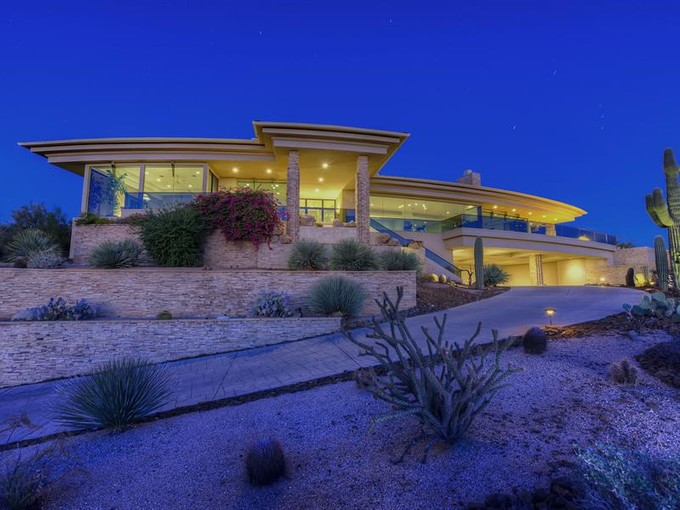 Single Family Home for sales at Stunning Hillside Contemporary Home with the Best Views in Troon North 10745 E Skinner Drive  Scottsdale, Arizona 85262 United States