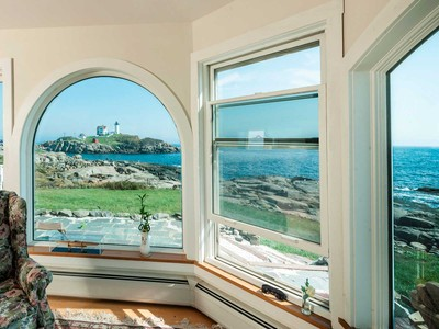 Single Family Home for sales at Oceanfront Residence with One-of-a-Kind Nubble Lighthouse Views 9 Sohier Park Road York, Maine 03909 United States