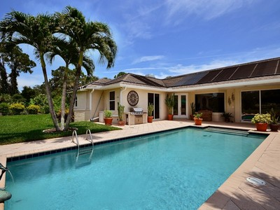 Single Family Home for sales at Contemporary Pool Home on Large Lot, Secured Entry 746 Hampton Woods Ln SW Vero Beach, Florida 32962 United States