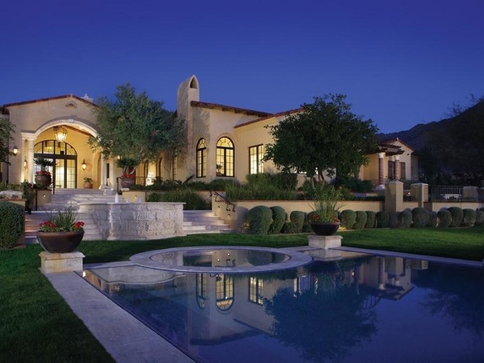 Single Family Home for sales at Regal Mediterranean Estate on 3.6 Acres in Upper Canyon of Silverleaf 10955 E Feathersong Lane Scottsdale, Arizona 85255 United States