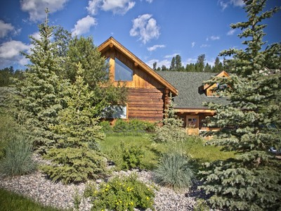 Single Family Home for sales at Westfork Log Home 201 Spruce Cone Big Sky, Montana 59716 United States