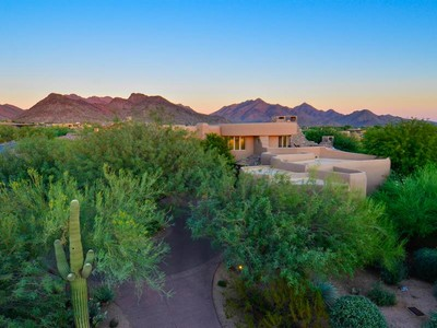 Single Family Home for sales at Award Winning Contemporary Southwest Custom Home in DC Ranch Country Club 9290 E Thompson Peak Pkwy #463 Scottsdale, Arizona 85255 United States