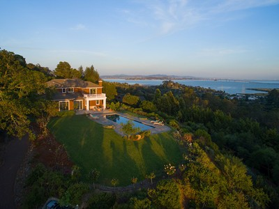 Single Family Home for Sale at Craftsman Elegance with Panoramic Views 255 Highland Avenue San Rafael, California 94901 United States