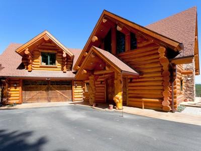 Single Family Home for sales at Log Home Showcasing Mountain Views 235 Antler Ridge Rd Whitefish, Montana 59937 United States