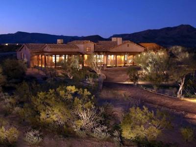Tek Ailelik Ev for sales at Distinctive Western Ranch Home Built Under Scottsdale's Green Building Program 8466 E Tecolote Circle # 1 Scottsdale, Arizona 85266 Amerika Birleşik Devletleri