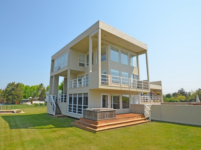 Nhà ở một gia đình for sales at Waterfront Contemporary with Boat Slip 17 Sandpiper Court Westhampton, New York 11977 Hoa Kỳ