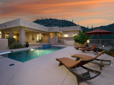 Single Family Home for sales at Soft Contemporary Estate with Captivating Views & Private AZ Living on 2.4 Acres 15075 N Cush Cayton Place Marana, Arizona 85658 United States