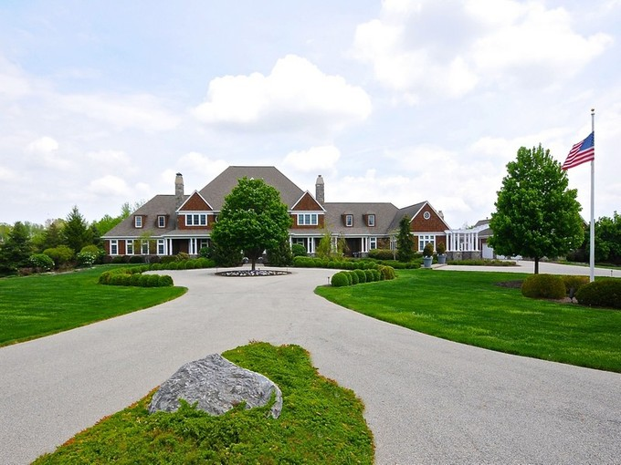 Single Family Home for sales at Sprawling Nantucket Style Estate on 8 Acres 3403 Club Estates Drive  Carmel, Indiana 46033 United States