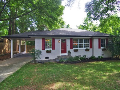 Single Family Home for sales at Cozy Renovated Brick Ranch 877 Custer Avenue SE  Atlanta, Georgia 30316 United States