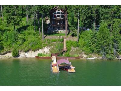 Casa Unifamiliar for sales at Water Front Luxury on Hayden Lake 14754 N DONART CT Hayden, Idaho 83835 Estados Unidos