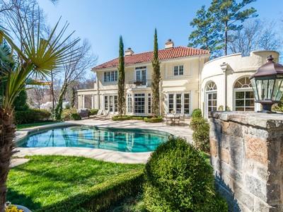 Single Family Home for sales at Stunning Mediterranean Style Home 3571 Tuxedo Park NW Atlanta, Georgia 30305 United States
