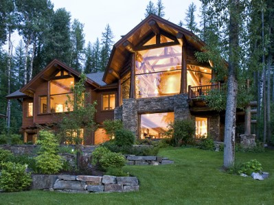 Single Family Home for sales at Spectacular Home on Whitefish Lake's Lazy Bay 669 Delrey Road Whitefish, Montana 59937 United States