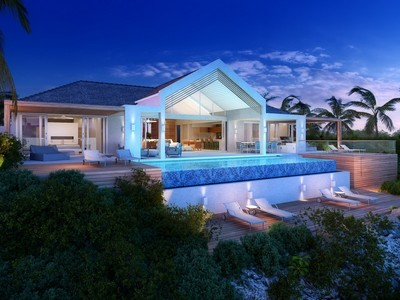 Tek Ailelik Ev for sales at Beach Enclave - Single Storey Villa- LOT 5 Beachfront Blue Mountain, Providenciales TC Turks Ve Caicos Adalari