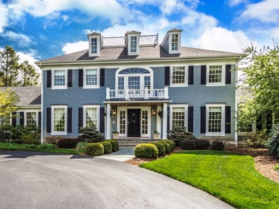 Casa para uma família for sales at Splendid Colonial on 10 Level Acres 5 Gussett Road Wenham, Massachusetts 01984 Estados Unidos