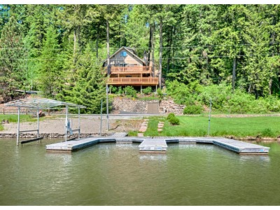Single Family Home for sales at Secondary CDA Waterfront Home 4457 S. Westway Dr. Coeur D Alene, Idaho 83814 United States