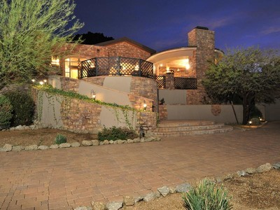 Maison unifamiliale for sales at Amazing Views and Unparalleled Arizona Outdoor Living 11205 E Troon Mountain Drive Scottsdale, Arizona 85255 États-Unis