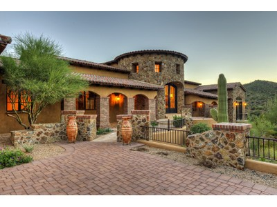 Single Family Home for sales at Majestic Mediterranean Masterpiece On 2.2 Acres In The Village Of Saguaro Forest 42077 N 97th Way  Scottsdale, Arizona 85262 United States