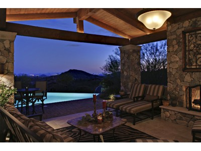Moradia for sales at Hillside Tuscan-styled Home Looks South Across Much Of Desert Mountain 42011 N 101st Way  Scottsdale, Arizona 85262 Estados Unidos