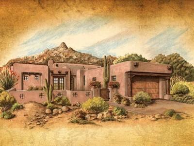 Maison unifamiliale for sales at Build to Suit Luxury Custom Home in North Scottsdale 10585 E Crescent Moon Dr #7  Scottsdale, Arizona 85262 États-Unis